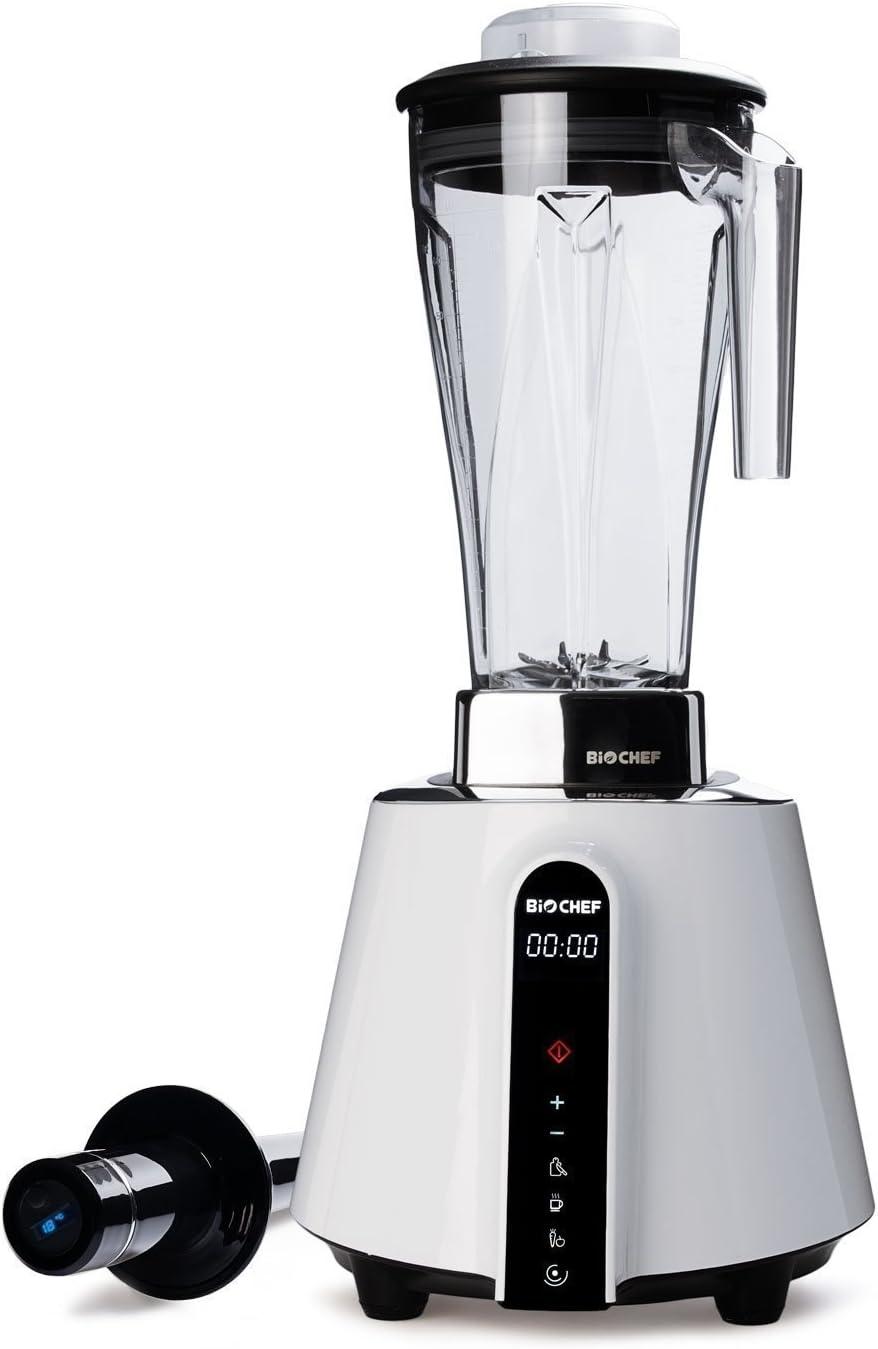 BioChef Living Food Blender - Batidora de Vaso Profesional 2L, 1680W, 32000 RPM, Pantalla Táctil, BPA Free, Garantía 10 Años