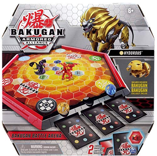 Bakugan Battle Arena, Game Board with Exclusive Gold HYDOROUS. for Ages 6 and UP