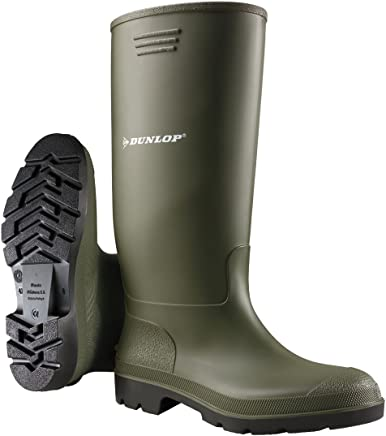 Dunlop Budget Welly, Unisex Adults  Multisport Outdoor Shoes, GREEN, 3 UK, 36 EU