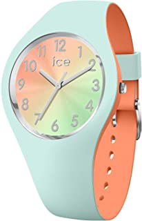 ICE duo chic Aqua coral - Women's wristwatch with silicon strap - 016981 (Small)