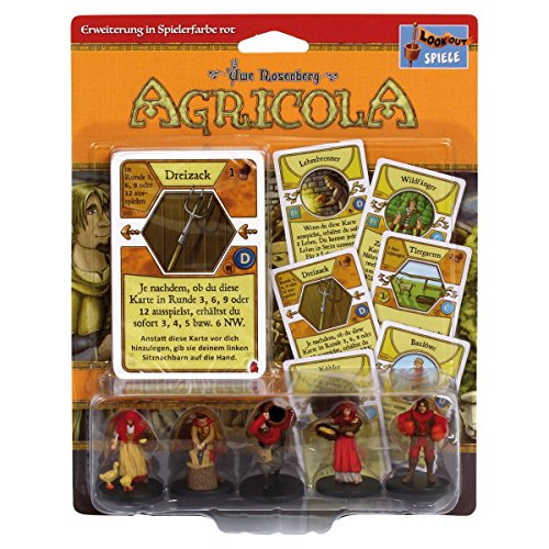 Lookout Games 22173044 Agricola Minis, Rot