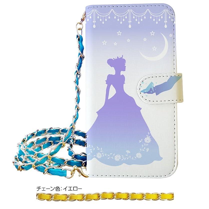 農場スイゲストsslink iPod touch6 アイポッドタッチ6 手帳型 スマホ ケース シンデレラ プリンセス チェーン 付き (イエロー) ダイアリータイプ 横開き カード収納 フリップ カバー スマートフォン