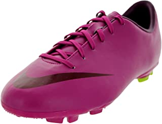 Nike Girl's JR Mercurial Victory III Soccer Cleats Rave Pink/Atomic Green/Bordeaux