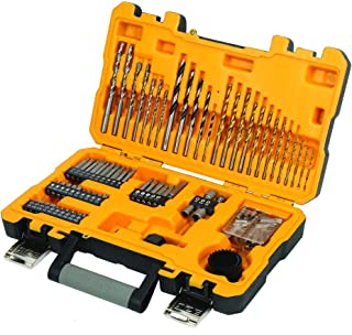 JCB - 100 Piece Drill Set & Screwdriver Bits | Metal, Masonry, Wood Drill Bits, Hole Saws, Screwdriver Bits, Sockets & Cou...