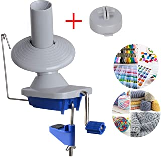 Yarn Ball Winder Swift Yarn Winder Easy to Set Up and Use Metal Handle and Tabletop Clamp with a Non-Slip Rubber Mat