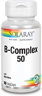 SOLARAY® B complex 50. 50 VegCaps. Las Vitaminas B contribuyen al normal funcionamiento