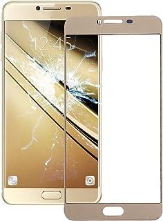 Mrdhbf عدسة الزجاج الخارجي للشاشة الأمامية لهاتف Galaxy C7