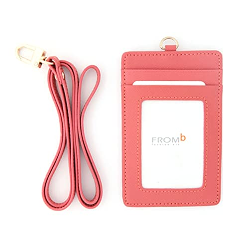 Leather Slim Credit Card Holder Id Card Case Holder Useful Purse with Neck  Strap 5464c74cea99