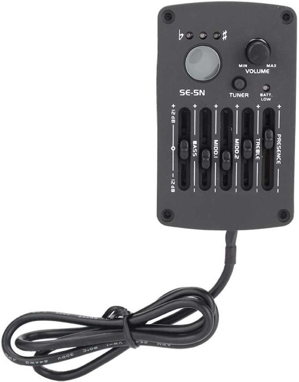 Guitar Equalizer-SE-5N 5 Band EQ Ecualizador Pickup Tuner para Guitarra acústica Instrumento musical Kit de accesorios