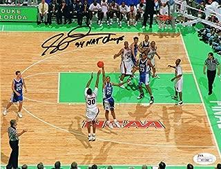 Scotty Thurman Autographed Arkansas Basketball 1994 CHAMPS Signed Basketball 8x10 Photo JSA COA