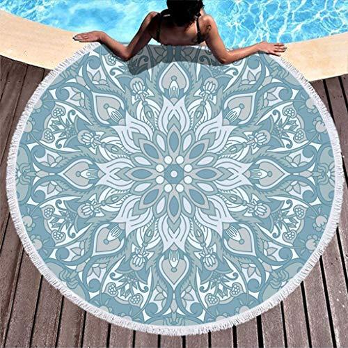 Go Go Grifendoor Toalla de playa redonda de secado rápido, ultrasuave, para falda envolvente blanca, 150 cm