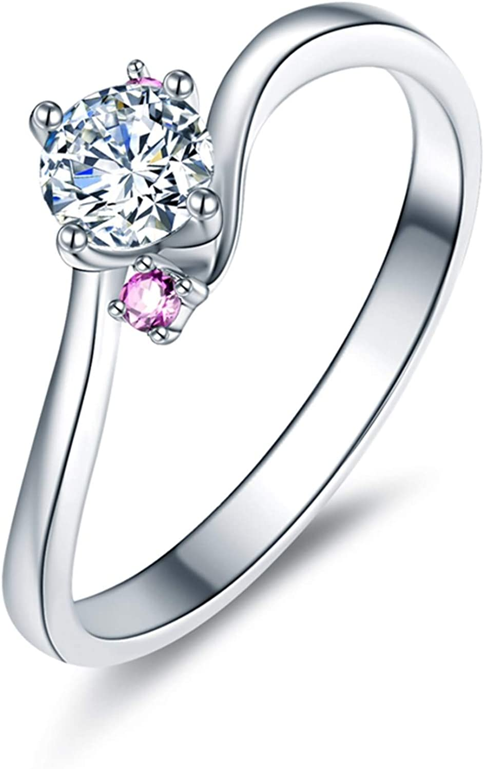 KnBoB White Gold Wedding Rings Max 88% OFF Women Wavy 18K for Lin New product type