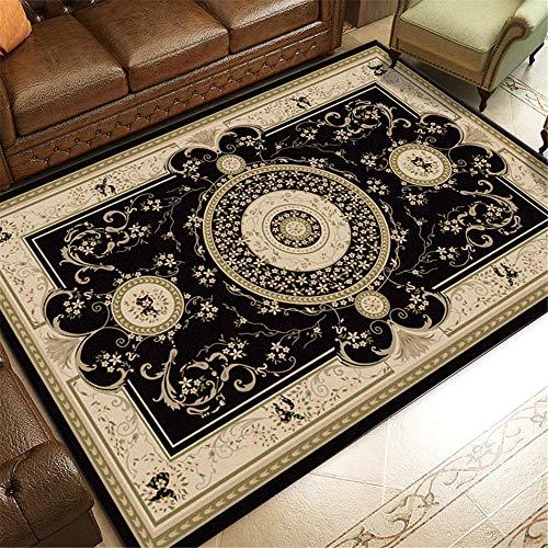 TEPPICH-CY-ZK tapijt slijtvast, duurzaam nachtkleed Zwart Roze Crème Klassiek Bloemenpatroon Retro Stijl tapijt gezellig tapijt