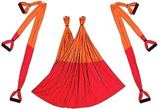 Aerial Yoga Swing Flying Hammock Set Anti-Gravity 6 Hand Grip Hanging Chair Kit Fitness Pilates Swing Belt
