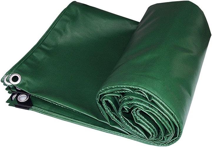 LIYFF- Bache Résistante Verte Multi-Usage - 100% Imperméable et UV Prougeégé, épaisseur 0.4mm, 550g m2, 13 Options de Taille