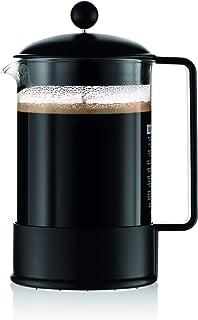 ボダムブラジル1-1 / 2リットルフレンチプレスコーヒーメーカー、12-カップ、ブラック