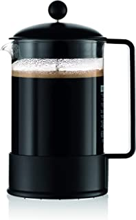Bodum Brazil French Press Coffee Maker, 51 Ounce, 1.5 Liter, Black