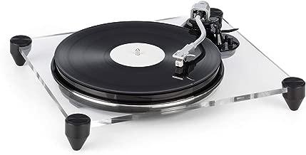auna TT-Pure Tocadiscos con preamplificador - Gramola , Cápsula MM , detención automática , Pitch Control , Vidrio acrílico , 33 1/3 + 45 RPM , Negro