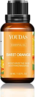 YOUDAS 100% Pure Natural Sweet Orange Essential Oils,Perfect for Aromatherapy, Relaxation, Skin Therapy and More