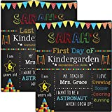 First & Last Day of School Chalkboard, My First Day of School Board, 1st Day of School Sign Reusable, Back to School Board 12 x 10 inch Double Sided Photo Prop for Kids, Girls & Boys