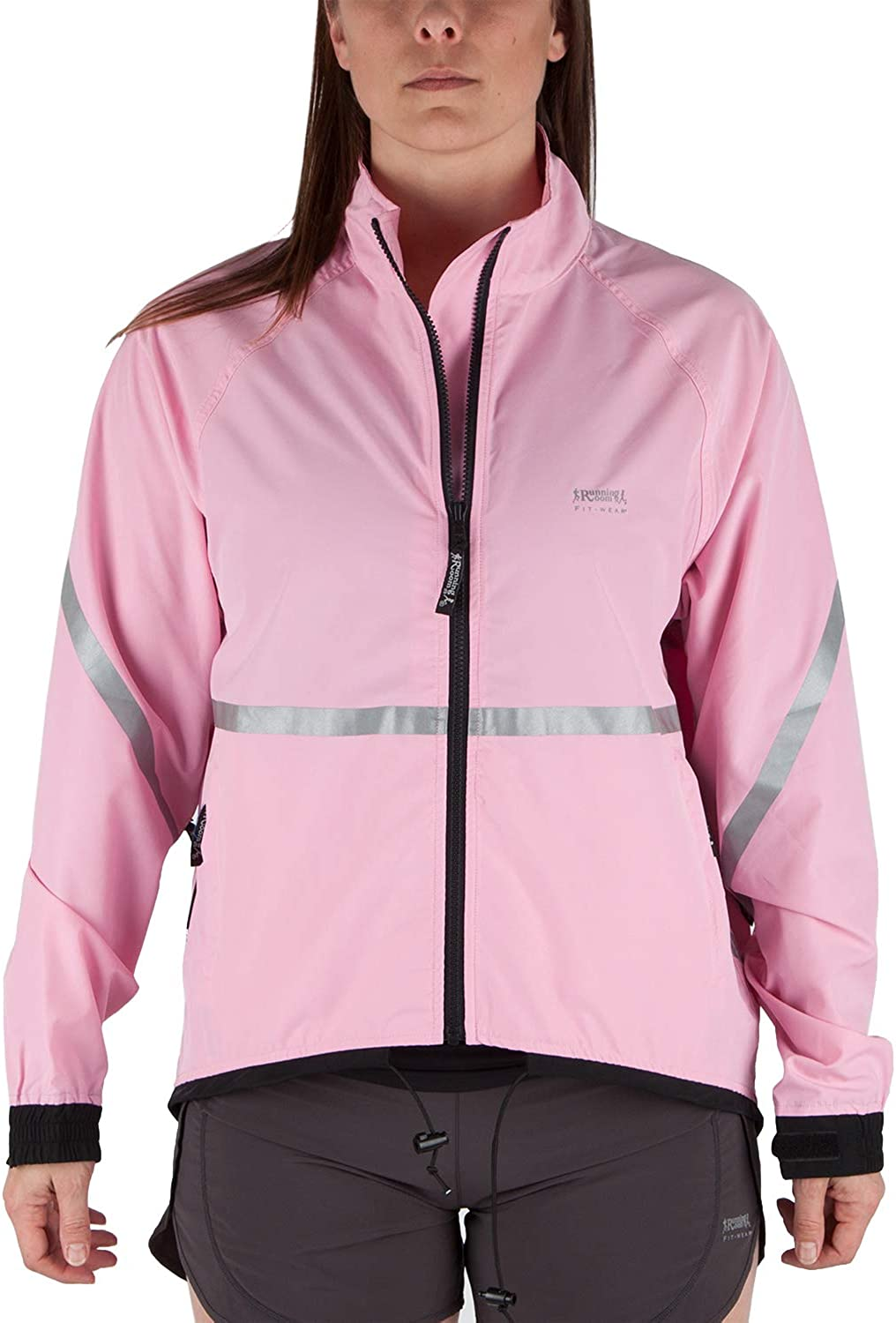 Running Room Unisex Reflective Jacket with Pockets (XL, Pink)