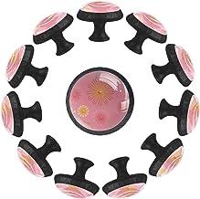 Roze Madeliefje, Keukenkast Knoppen Lade Knop Trek Handvat Kristal Glas Trekt voor Home Office Slaapkamer Woonkamer Badkam...