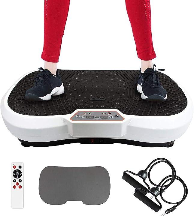 Pedana vibrante per allenamento , con tappetino yoga, telecomando, fasce di resistenza, 180 livelli B07R22PLVM