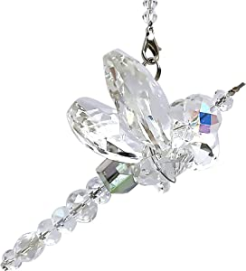 Dragonfly Gift - Crystal Dragonfly - Crystal Figurines- Car Charm - Rainbow Maker - Dragonfly Charm - Prism Suncatcher for Garden, Home, Car and Window Décor - Gifts for Mom - Gifts for Grandma