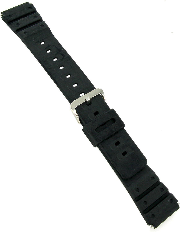 20mm Kreisler Polyurethane Soft Flexible free shipping Memphis Mall Long Lasting Watc Black