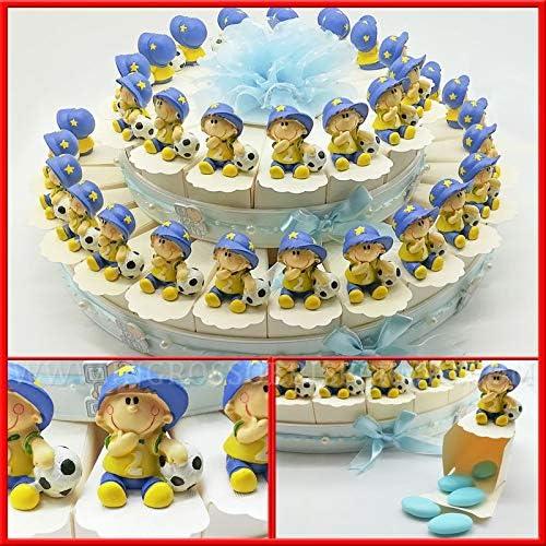 - und KucheneinSpaßung 15-, 25 und 40 cremefarbenen Scheiben mit B ern und Blauen Tüllmotiven mit Kinderfiguren und Fußball-Figuren zur Kommunion Fußball 40 fette Confetti Rossi