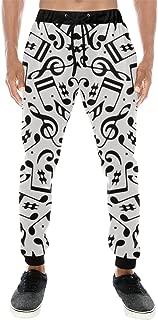 Men All Over Print Casual Baggy Slacks Sweatpants Pants for Running Gym