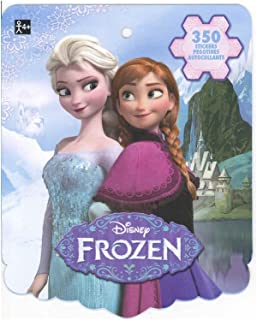 Disney Frozen Sticker Book for Kids (featured Elsa Anna Olaf and Kristoff over 350 stickers)-1 PACK