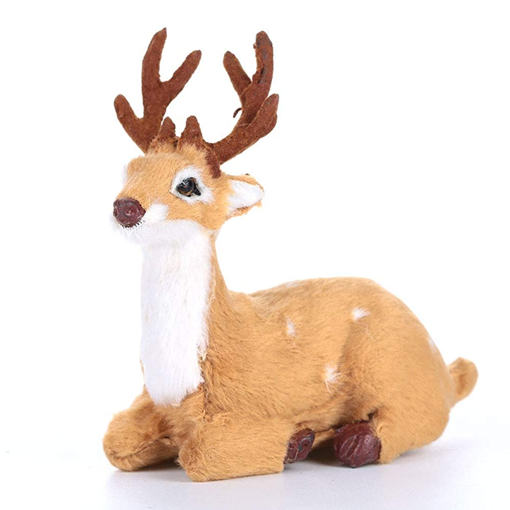 カウンタグラフ刺激するクリスマスエルク3鹿の角13 * 11センチ鹿装飾エルク人形の装飾品トナカイクリスマス装飾品かわいい帽子エルクトナカイ人形ギフト装飾