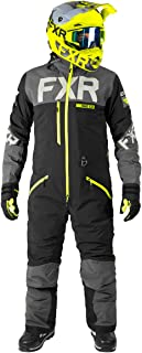 FXR Mens Helium Lite Trilaminate Monosuit (Black/Charcoal/Hi Vis, Medium)