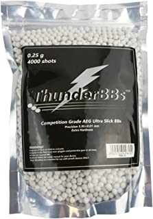 Thunder BBs TBB0.25 Airsoft BBS 0.25G, Competition Grade, White or Off White, 4000 Rounds/Bag