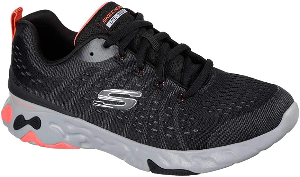 Skechers Men's Eclipse All stores are sold Walking Attention brand 8.5 Black Red