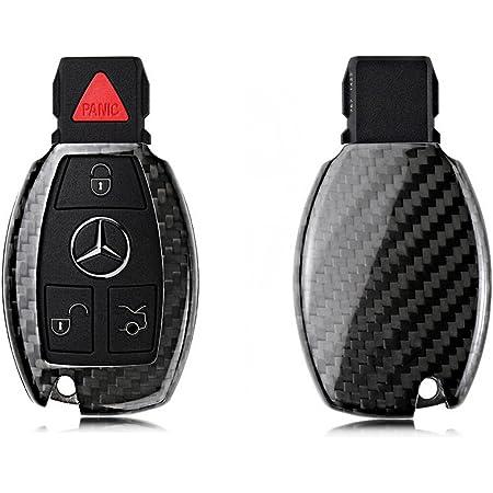 Guscio per chiave auto in vera fibra di carbonio per W222 Classe S E W213 Classe C W205 GLC X253