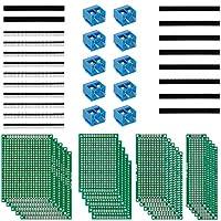 Mengen: insgesamt 20Stücke, 5Stücke 4X6 prototype PCB Universal Board, 5Stücke 3X7 prototype PCB Universal Board, 5Stücke 2X8 prototype PCB Universal Board, 5Stücke 5X7 prototype PCB Universal Board. Pitch: 5,08mm ,5,08-301-2P ,Nennspannung: 300 V,Be...