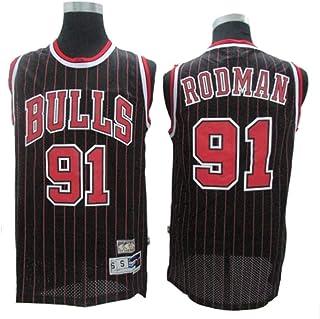 Dennis Rodman # 91 Herren-Basketball Jersey, Bulls Retro All-Star atmungsaktiv Swingman Trikots