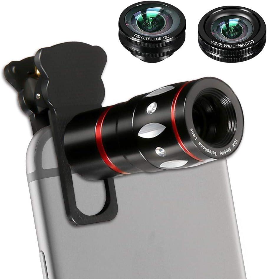 Houston Mall Finally resale start Phone Camera Lens Kit 4 in 1 Le Telescope 10X Cell -