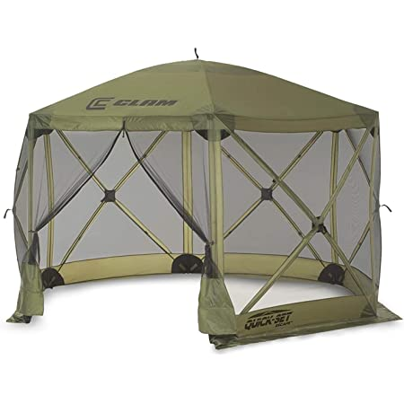 Quick-Set Escape 12x12 ft. Portable Camping Outdoor Gazebo Canopy Shelter with Carrying Bag, Green