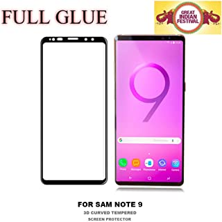 Own Shop™ Screen Protector Full Glue Edge to Edge Tempered Glass for Samsung Galaxy Note 9