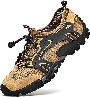 Teekit - Scarpe da ginnastica da uomo, in rete, traspiranti, antiscivolo, per attività all'aria aperta, da trekking