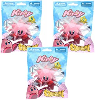 Kirby Blind Bagged SquishMe Foam Toy Lot of 3