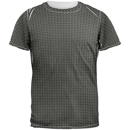 Old Glory Chainmail Costume All Over Adult T-Shirt - Large