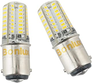 Bonlux 2-Pack LED Ba15d Bulb Double Contact Bayonet Base 1076 1130 1176 1142 LED Replacement DC10V-18V Warm White 3W 250lm 25W Equivalent