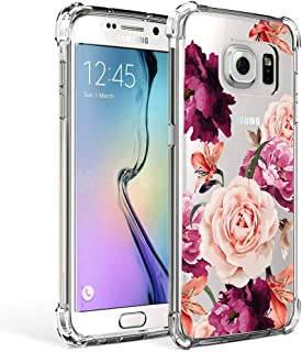 Galaxy S7 Case for Girls Women Clear with Flowers Design Shockproof Protective Cell Phone Cases for Samsung Galaxy S7 5.1 Inch Cute Floral Pattern Print Flexible Slim Fit Bumper Rubber Silicone Cover
