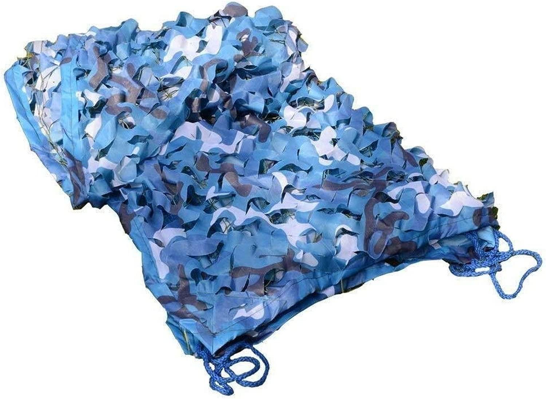 迷彩ネッティングブルーオックスフォード生地用デンズ隠す寝室迷彩ネットカーカバーネットサンシェードテント、海用迷彩池デッキパドック中庭日焼け止めネット ZHAOFENGMING (Color : 青, Size : 15×15M)