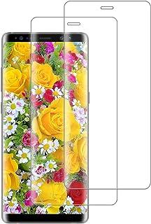 XSWO Cristal Templado Samsung Note 8 [2 Unidades], Protector de Pantalla Samsung Galaxy Note 8, [3D Cobertura Completa] [Alta Sensibilidad] [9H Dureza] [Fácil Instalar] [Sin Burbujas] Vidrio Templado