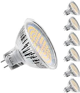 KDP Ampoules LED MR16 GU5.3 12V, Blanc Chaud 2800K, 5W Equivalent à 50W lampe halogène, 450LM, 120° Angle, Ampoules LED Sp...